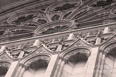 Details Of The National Cathedral Art Print