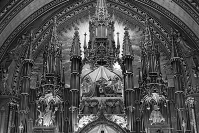 Photograph - Details Of The Notre Dame, Montreal by For Ninety One Days