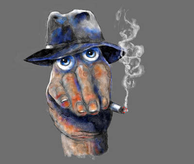 Digital Art - Detective Hand by Rick Mosher