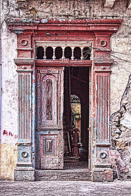 Photograph - Deteriorated Door In Casco Viejo, Panama by Tatiana Travelways