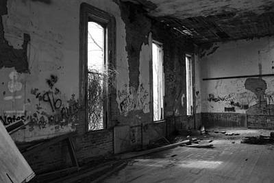 Vandalize Photograph - Deteriortated Bw by Jeff Roney