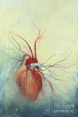 Heart Wall Art - Painting - Determination by Priscilla  Jo