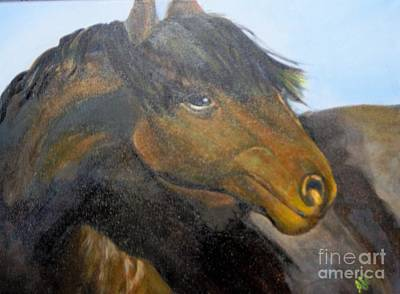 Art Print featuring the painting Determination by Saundra Johnson