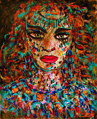 Character Portraits Painting - Determined by Natalie Holland