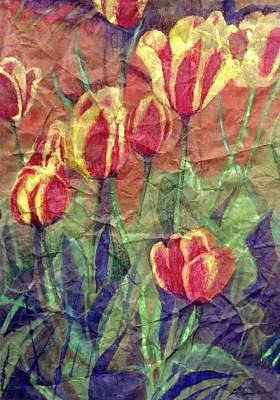 Mixed Media - Determined Tulips by Ceilon Aspensen