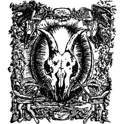 Deth Metal Art Print by Karl Addison