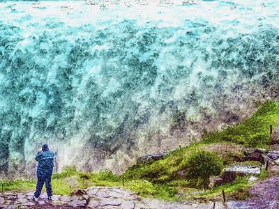 Digital Art - Detifoss In The Rain by Frans Blok