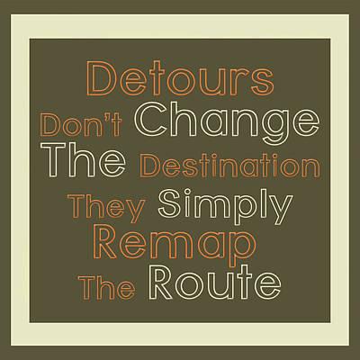 Detour Art Print by Richard Homawoo