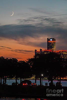 Photograph - Detroit After Dark by Jim West