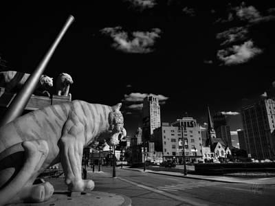 Photograph - Detroit - Comerica Park 002 Bw by Lance Vaughn