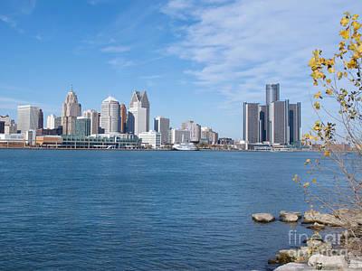 Detroit From Windsor Print by Ann Horn