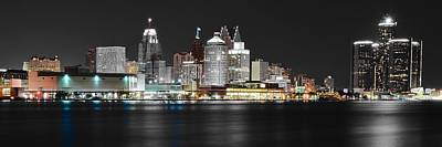 Photograph - Detroit In Black And Color by Frozen in Time Fine Art Photography