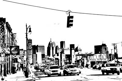 Photograph - Detroit In Pencil  by Randy J Heath