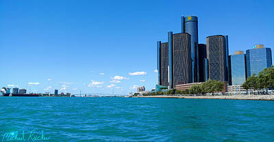 Photograph - Detroit International Riverfront by Michael Rucker