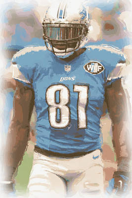 Calvin Photograph - Detroit Lions Calvin Johnson 1 by Joe Hamilton