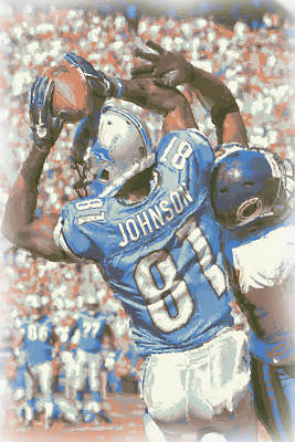 Calvin Photograph - Detroit Lions Calvin Johnson 3 by Joe Hamilton
