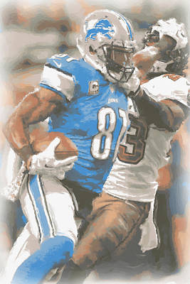 Calvin Photograph - Detroit Lions Calvin Johnson 4 by Joe Hamilton