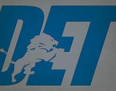 Photograph - Detroit Lions City Name by Joe Hamilton