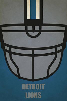 Painting - Detroit Lions Helmet Art by Joe Hamilton