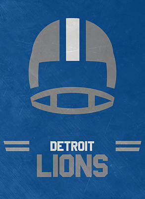 Mixed Media - Detroit Lions Vintage Art by Joe Hamilton