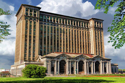 Painting - Detroit Michigan Central Station by Christopher Arndt