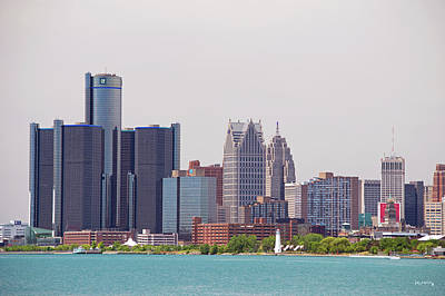 Photograph - Detroit Michigan Skyline by Ken Figurski