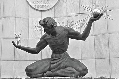 Photograph - Detroit Michigan Statue by Frozen in Time Fine Art Photography