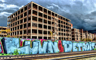 Painting - Detroit Packard Automotive Plant by Christopher Arndt