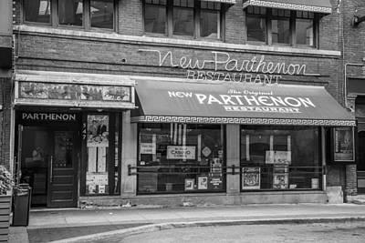 Photograph - Detroit Parthenon Black And White  by John McGraw