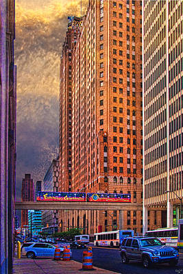Photograph - Detroit People Mover by Chris Lord