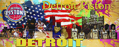 Detroit Pistons Original by Don Kuing