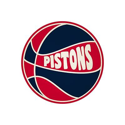 Detroit Pistons Retro Shirt Art Print by Joe Hamilton