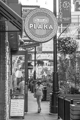 Plaka Photograph - Detroit Plaka In Black And White  by John McGraw