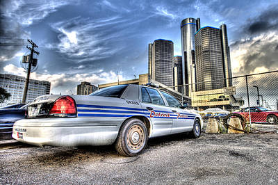 Detroit Police Art Print by Nicholas  Grunas