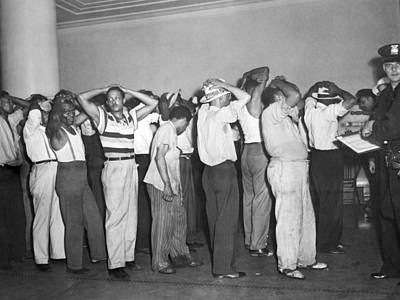 Hands Behind Head Photograph - Detroit Race Riots by Underwood Archives