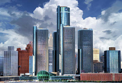 Painting - Detroit Renaissance Center by Christopher Arndt
