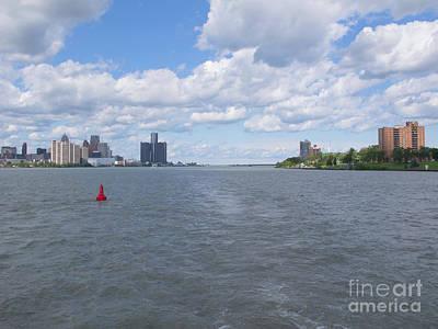 Detroit River Navigation Print by Ann Horn