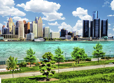 Painting - Detroit River Skyline by Christopher Arndt