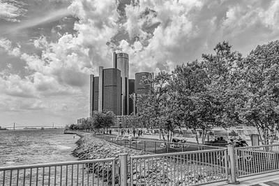Photograph - Detroit Riverfront And Reninsance Center  by John McGraw