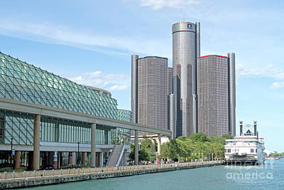 Photograph - Detroit Riverside by Ann Horn