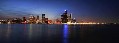 Detroit Skyline 1 Original by Gordon Dean II