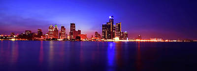 Detroit Skyline 3 Original by Gordon Dean II