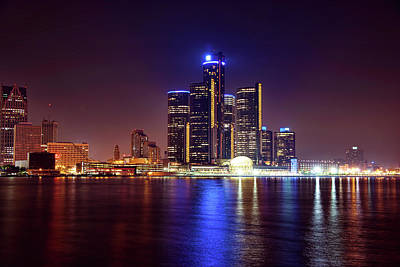 Detroit Skyline 4 Original by Gordon Dean II