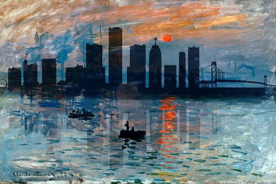 Photograph - Detroit Skyline 5 by Andrew Fare