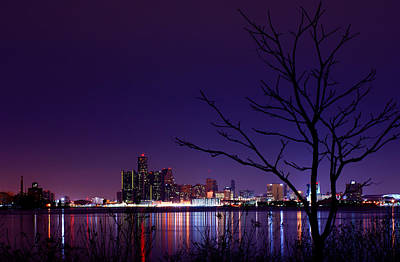 Windsor Photograph - Detroit Skyline by Cale Best