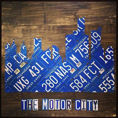 #detroit #themotorcity #michigan #city Art Print