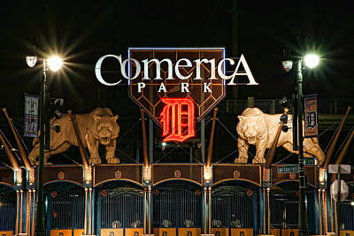 Stadium Digital Art - Detroit Tigers - Comerica Park by Gordon Dean II