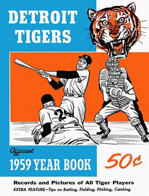 Detroit Tigers Art Painting - Detroit Tigers 1959 Yearbook by Big 88 Artworks