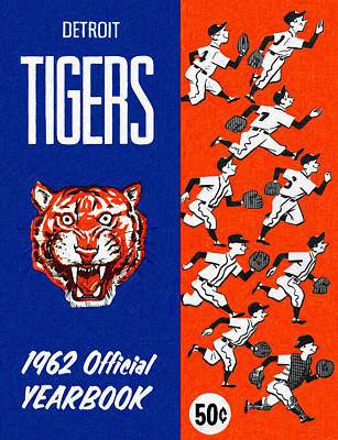 Detroit Tigers Art Painting - Detroit Tigers 1962 Yearbook by Big 88 Artworks
