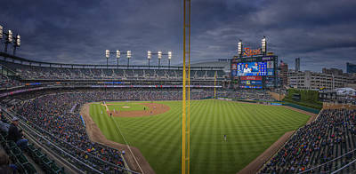 Photograph - Detroit Tigers Comerica Park 2pano1 by David Haskett II